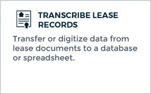 Outsourcing Transcription - Transcribe Lease Records
