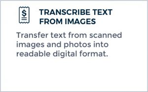 Outsourcing Transcription - Transcribe Text from Images