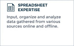 Outsourcing Data Management Services - Spreadsheet Expertise