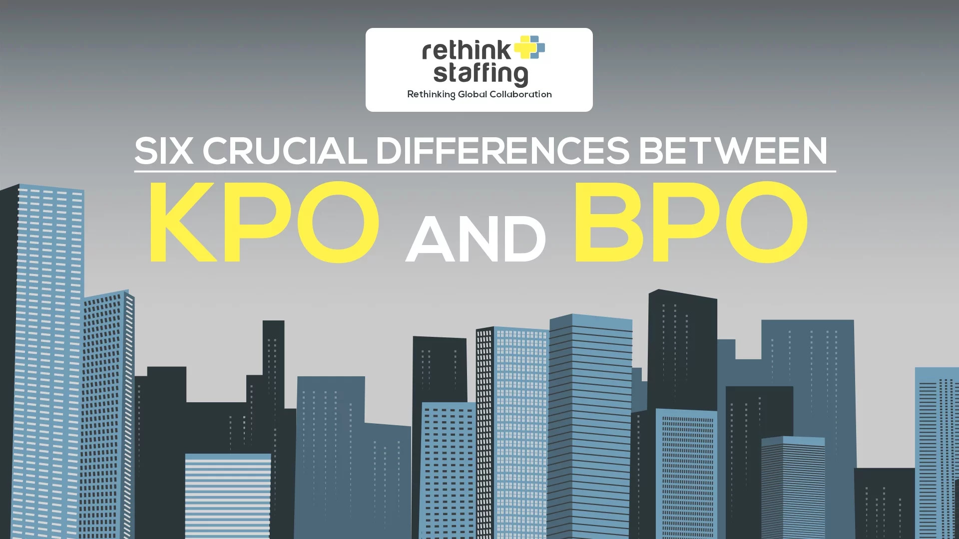 Six Crucial Differences Between KPO and BPO Infographic