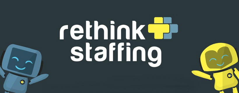 Old Rethink Staffing Mascots with Current RTS Logo
