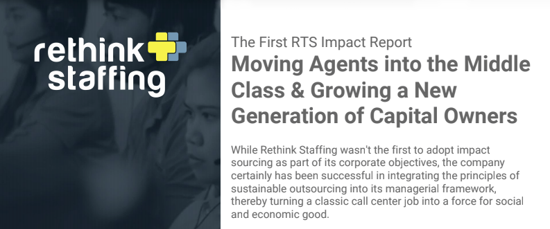 First Rethink Staffing Impact Sourcing Report