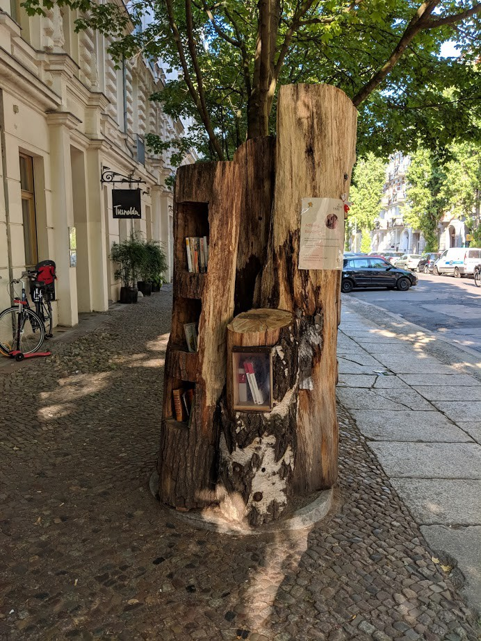 A library tree in East Berlin, Germany.
