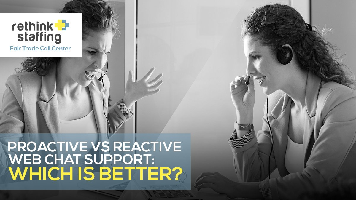 Proactive vs Reactive Web Chat Support: Which is Better?